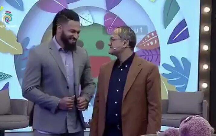 ترس رامبد جوان و جناب خان از دیدن مهمان برنامه / فیلم