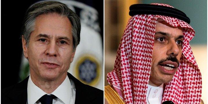 تماس تلفنی بلینکن با وزیر امور خارجه عربستان