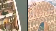 نمایی دیدنی از بلندترین ساختمان گرد جهان / فیلم