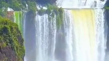 آبشاری زیبا که ۳ برابر از آبشار نیاگارا بزرگتر است / فیلم