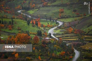نمای دیدنی از جاده سیاهکل دیلمان / عکس