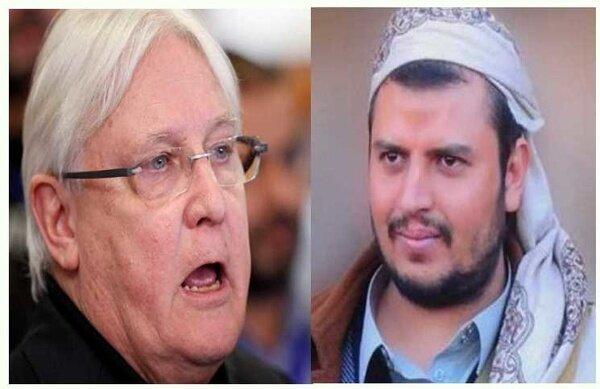 دیدار گریفیتس با رهبر انصارالله یمن در صنعا