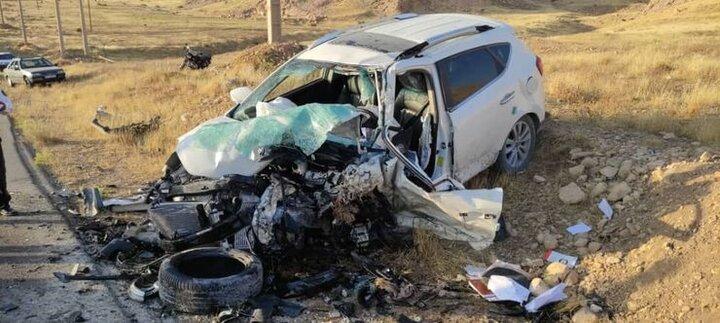 تصادف وحشتناک دو خودرو در کازرون خون به پا کرد