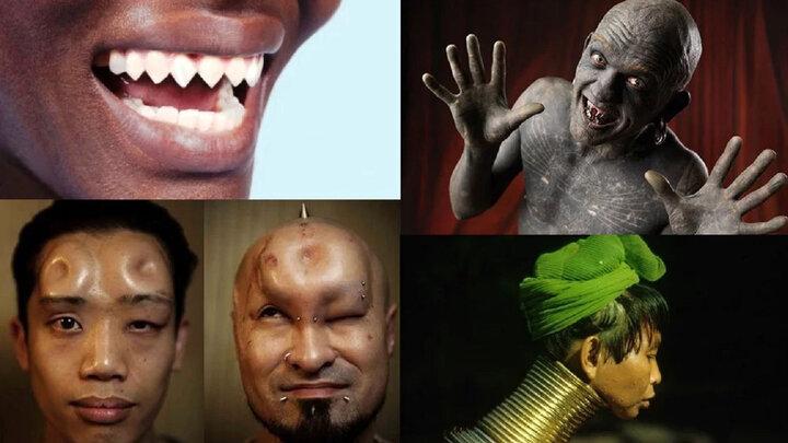 عجیب ترین مدها در جهان، از برش زبان تا تراش دندان / تصاویر
