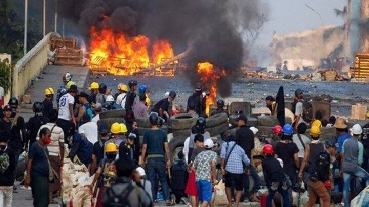 افزایش آمار کشتهشدگان اعتراضات ضدکودتا در میانمار به ۸۴۰ نفر