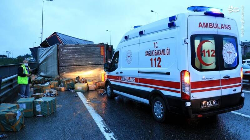 تصادف زنجیرهای وحشتناک در ترکیه / تصاویر