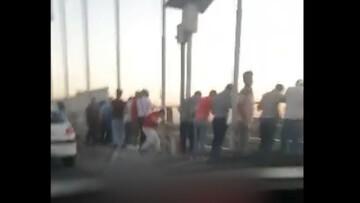 خودکشی دختر هشتگردی با پریدن از روی پل  هوایی / فیلم