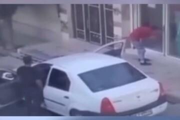 سرقت از یک مغازه با خودروی مسروقه! / فیلم
