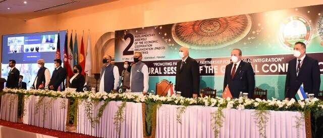 آغاز اجلاس روسای مجالس اکو در پاکستان با حضور ایران