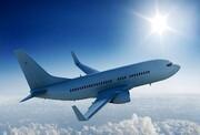 برخورد بال هواپیما با تیر چراغ برق فرودگاه / فیلم