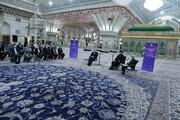 ادای احترام ظریف به بنیانگذار جمهوری اسلامی ایران / تصاویر