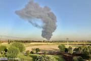 تصاویری از دود غلیظ در  نزدیکی پالایشگاه تهران / فیلم