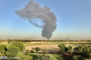 فیلمی از آتشسوزی و دود وحشتناک در جنوب تهران