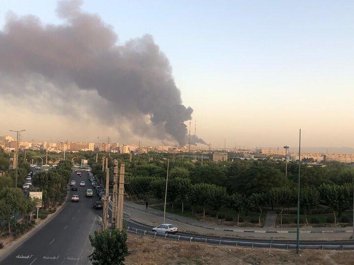 آخرین خبرها از آتشسوزی عظیم در پالایشگاه شهید تندگویان تهران / علت حادثه هنوز مشخص نیست