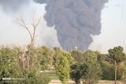آتش سوزی پالایشگاه تهران همچنان ادامه دارد / فیلم