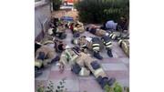 تصویری پربازدید از حادثه آتشسوزی پالایشگاه نفت تهران