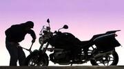 لحظه سرقت عجیب موتورسیکلت توسط زن و مرد جوان در تهران / فیلم