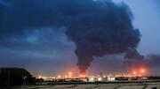 تصاویری از دومین روز از آتشسوزی پالایشگاه تهران / فیلم و عکس