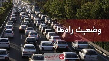 آخرین اخبار از وضعیت ترافیکی جادههای کشور