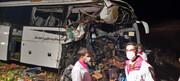 تصادف هولناک اتوبوس با کامیون در اردبیل / عکس و فیلم