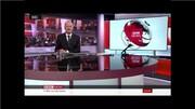 حضور مجری شبکه بیبیسی با شلوارک هنگام اجرای برنامه در تلویزیون / فیلم