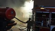 نخستین ویدیو از  آتش سوزی هولناک در کارخانه بهنوش / عکس و فیلم