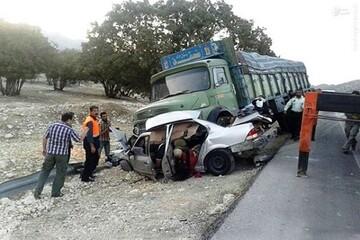 تصاویری دلخراش از برخورد کامیون با ۸ خودرو در رشت / فیلم