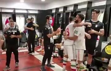 انتشار ویدیویی از خوشحالی بازیکنان تیم ملی در رختکن بعد از برد بحرین