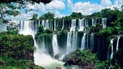 تصاویری تماشایی از آبشاری زیبا در آمریکای جنوبی / فیلم