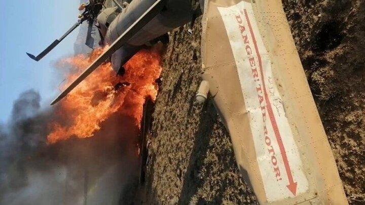 سقوط بالگرد ارتش افغانستان در استان میدان وردک