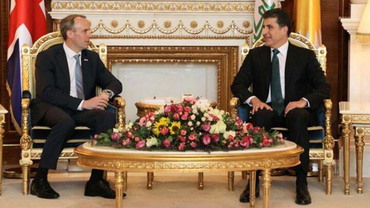 وزیر خارجه انگلیس به اربیل رفت