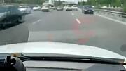 تعقیب و گریز نفسگیر ۳ تبهکار توسط خودروی پلیس در تهران / فیلم