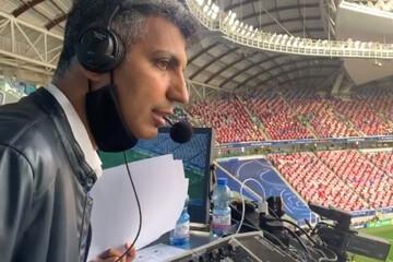گزارش بخشهایی از دیدار ایران و بحرین با صدای عادل فردوسی پور / فیلم