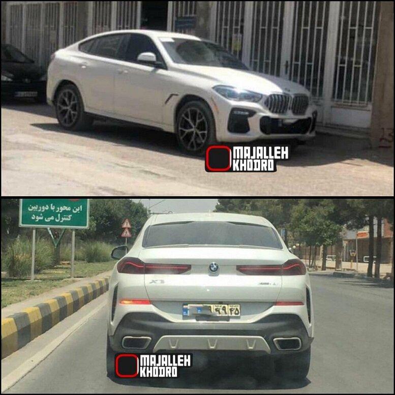 حضور خودرو لوکس بی ام و x۶ در خیابانهای ایران / عکس