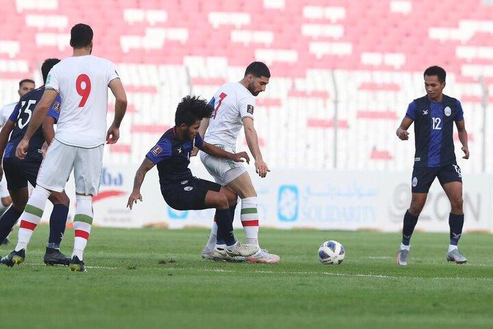 برد پرگل ایران مقابل کامبوج با نتیجه ده بر صفر