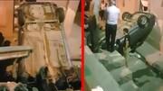واژگونی وحشتناک و مرگبار خودروی پراید در قرچک ورامین / فیلم