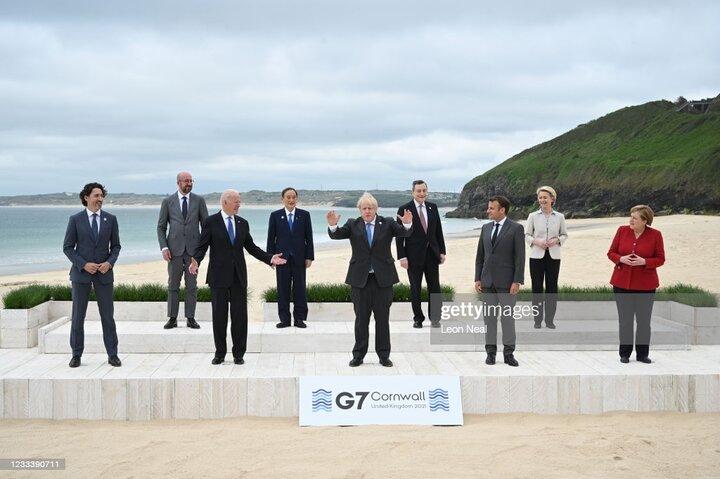 عکس دستهجمعی سران گروهG۷