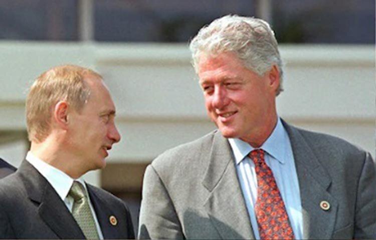 تصاویر   عکسهای مشترک پوتین با چهار رئیس جمهوری پیشین آمریکا