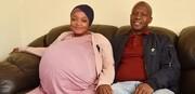 زن آفریقایی ۱۰ قلو به دنیا آورد! / عکس
