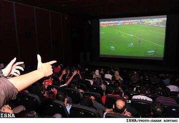 اختصاص سانس ۲۱ فردا شب برخی سینماهای تهران به پخش فوتبال