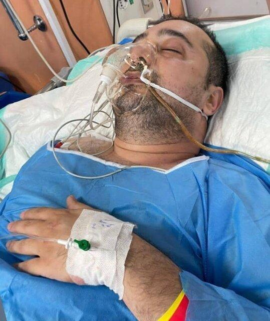 سپند امیرسلیمانی در بیمارستان بستری شد / عکس