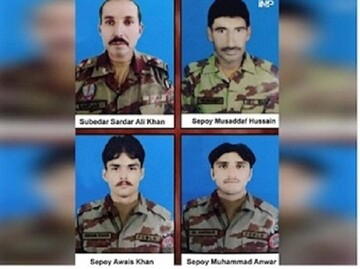 ۴ مرزبان پاکستانی بر اثر انفجار مین کشته شدند