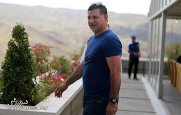 علی دایی برای ملیپوشان آرزوی موفقیت کرد / عکس
