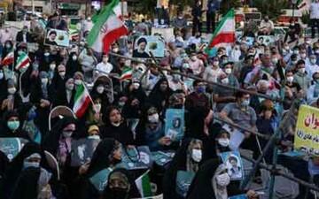 حصارکشی بین طرفداران یک کاندیدا در میدان هفت تیر تهران / عکس