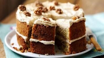 کیک قهوه و گردو خانگی + طرز پخت