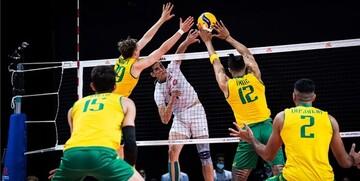 شکست باورنکردنی ایران مقابل استرالیا در لیگ ملتهای والیبال
