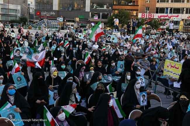 حصارکشی بین طرفداران یک کاندیدا در میدان هفت تیر تهران