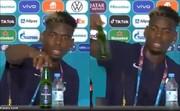 واکنش بازیکن مشهور فوتبال به تبلیغات مشروبات الکلی در نشست خبری / فیلم