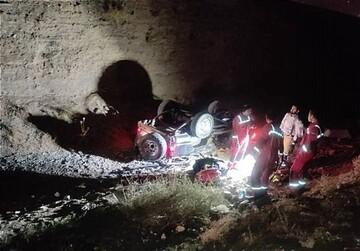 تصاویری از سقوط  وحشتناک پاترول به دره