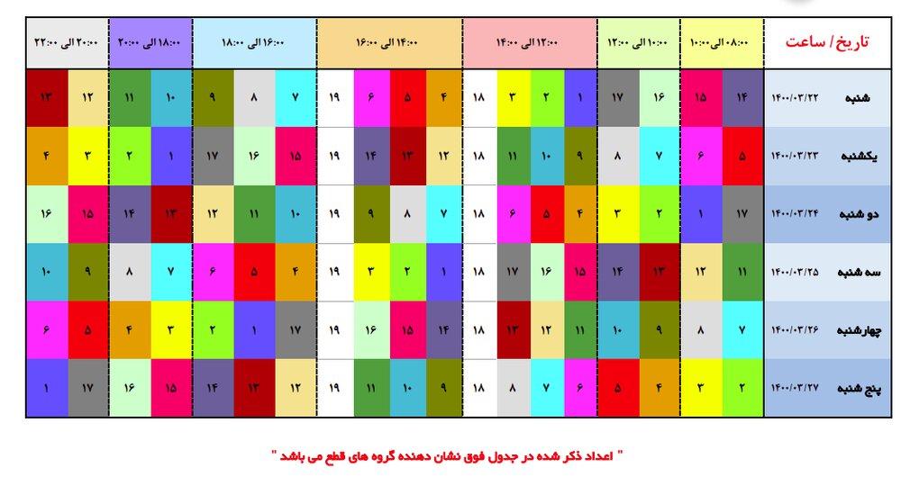 اعلام جزئیات قطعی برق امروز در پایتخت از ساعت 8 تا 14 + جدول خاموشی
